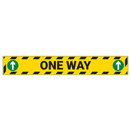 One Way Temporary Floor Sticker