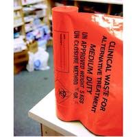 Orange Clinical Waste Sacks