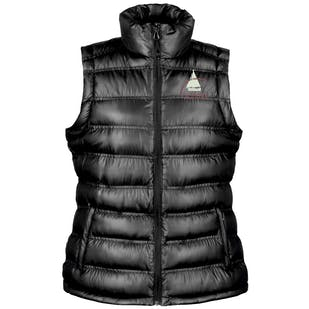 S.O.A Embroidered Ladies Padded Gilet