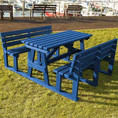 Pass Through Picnic Table Set
