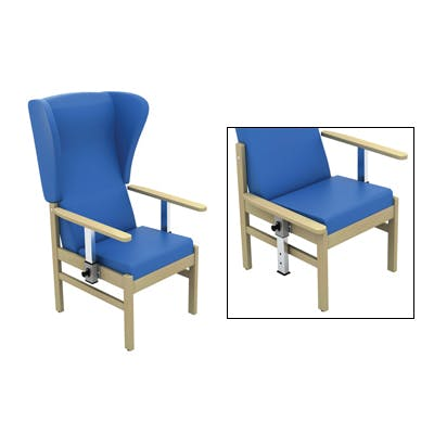 Patient Chair with Wings & Drop Arms