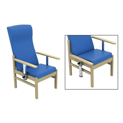 Patient High Back Arm Chair with Drop Arms