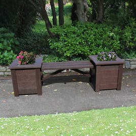 Planters with Bench