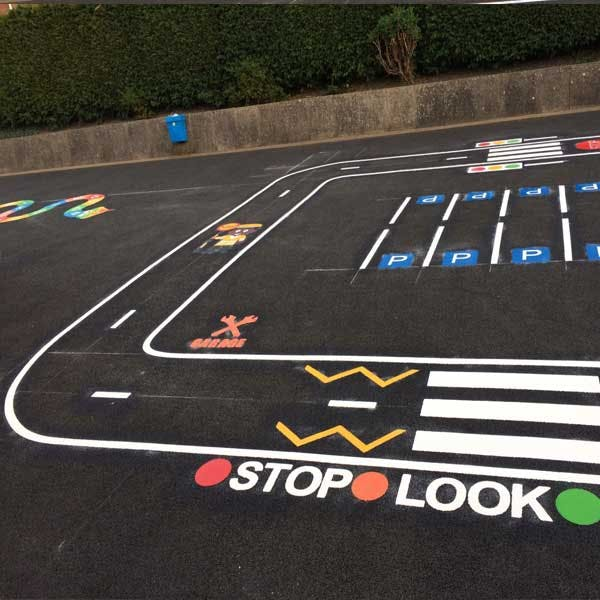 Stop, Look & Listen Road Safety Markings