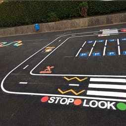 Stop, Look & Listen Road Safety Markings