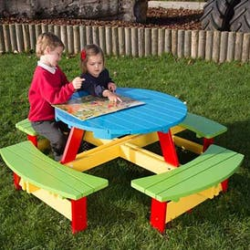 Playtime Nursery Round Picnic Table