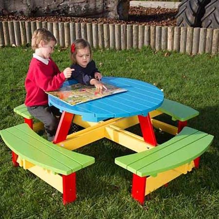 Playtime Nursery Round Picnic Table