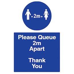 Spacing - Please Queue 2m Apart
