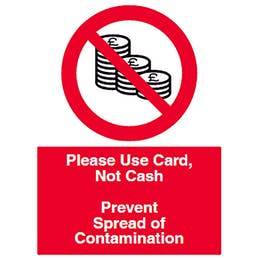 Please Use Card, Not Cash