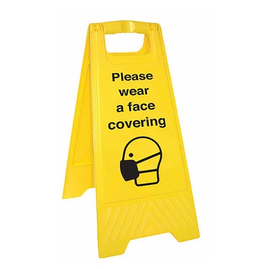 Please Wear A Face Covering - Double Sided Floor Sign
