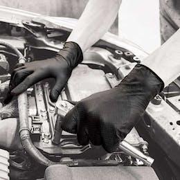 Polyco Finite Black Powder Free Nitrile Gloves
