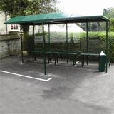 Premier Open Fronted Smoking Shelter - Back To Wall