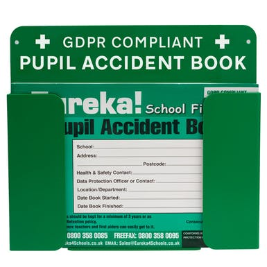 GDPR Compliant Pupil Accident Book Holder