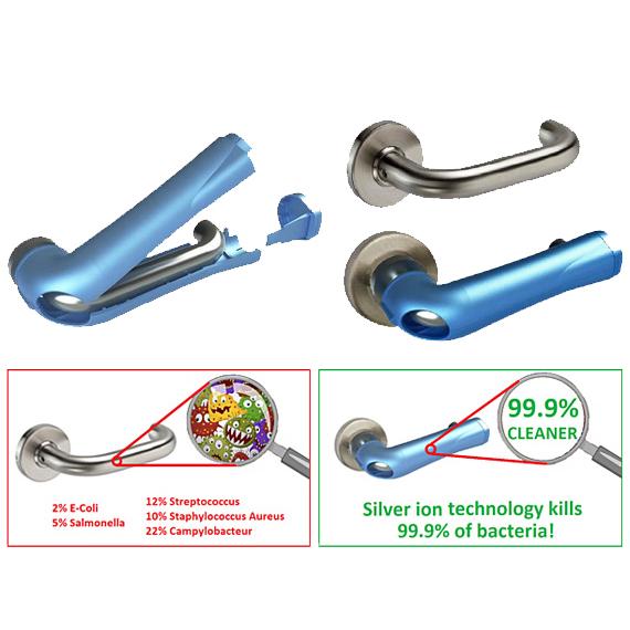 Purehold LEVER Antibacterial RTD Door Handle Cover
