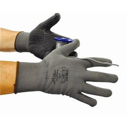 Matrix D Grip Grey PVC Dotted Gripper Gloves