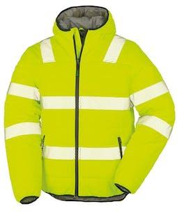 Result Recycled Padded Safety Hi-Vis Jacket