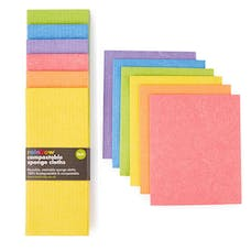 ecoLiving Rainbow Compostable Sponge Cleaning Cloths