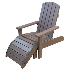 Adirondack Chair and Footstool
