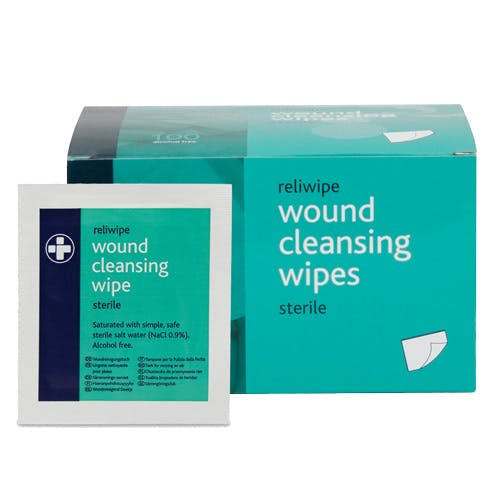 Reliwipe Sterile Saline Moist Cleansing Wipes