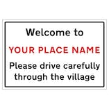 Welcome To - CUSTOM PLACE NAME - Village