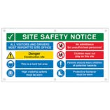 Multi Hazard Site Safety All Visitors To Site Office Banner