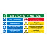 Multi Hazard Site Safety Notice 8 Points 2 Column Banner