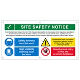 Multi Hazard Site Safety Hi Vis Jackets Banner