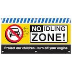 No Idling Zone Banner