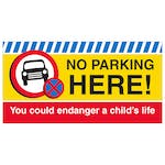 No Parking Here Banner