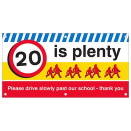 20 is plenty Banner