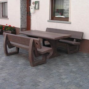Canterbury Bench and Picnic Table