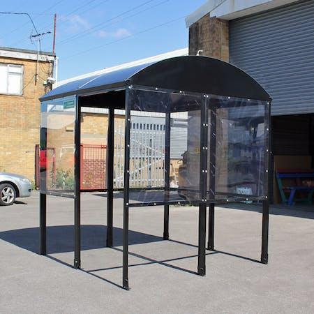 Domed 4-Sided Smoking Shelter - Aluminium Roof