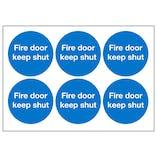 Fire Door Keep Shut Vinyl Labels On A Sheet