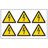 Electrical Hazard Vinyl Labels On A Sheet