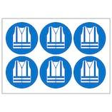 Hi-Vis Jacket Vinyl Labels On A Sheet