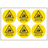 Authorised Drivers Only Vinyl Labels On A Sheet