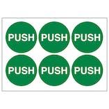 Push Vinyl Labels On A Sheet