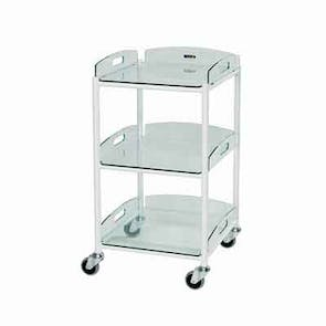 Small Dressing Trolley - Glass Effect