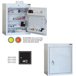 SunflowerCabinet - 3 Shelves & 2 Door Trays - 60cm x 30cm x 30cm - No Light