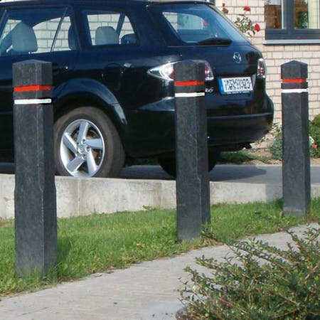Diamond Headed Bollard With Reflective Tape