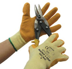 Polyco Orange Matrix S Latex Gripper Gloves