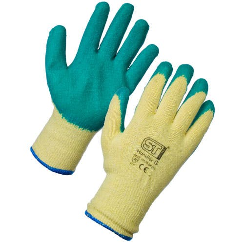 Economy Latex Grip Gloves - Green