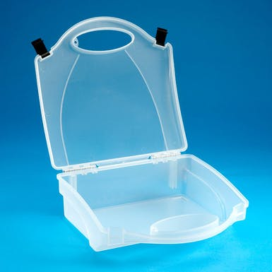 Empty Plastic Clear First Aid Case