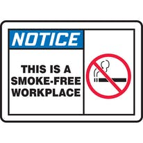 This Is A Smoke-Free Workplace W/Graphic