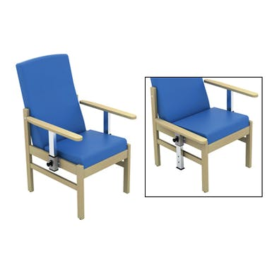 Atlas Patient Mid Back Arm Chair with Drop Arms