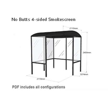 No Butts 4-sided Smokescreen