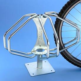 Semi Circle Floor Mounted Cycle Rack