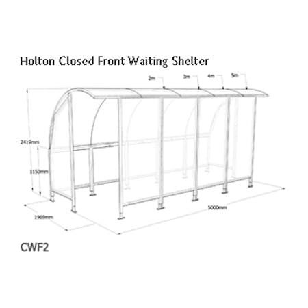 Holton Closed Front Waiting Shelter
