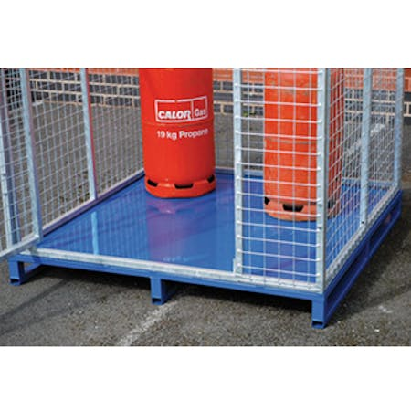 Mesh Storage Cage with Pallet Base