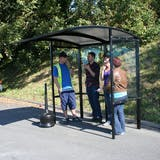 Open Front Freestanding Smoking Shelter - Poly Roof